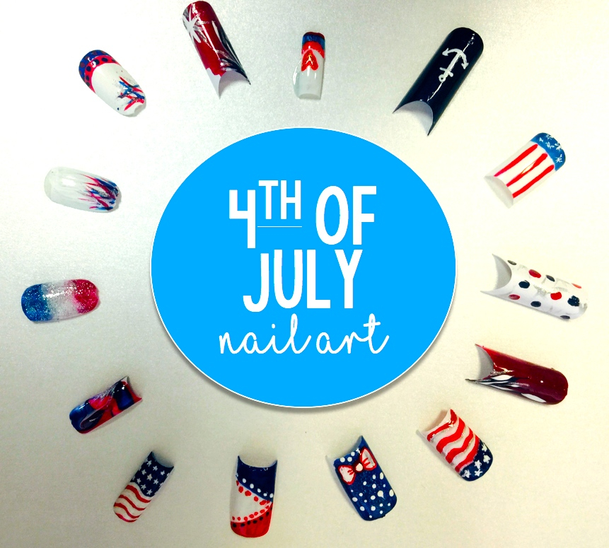 Independence Day Nail Art Ideas to Try 2015. All by our Senior Theory Class on June 11, 2015.